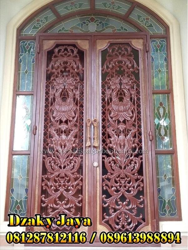 produk pintu besi tempa / pintu head tempa klasik