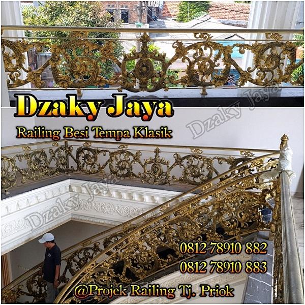 produk railing tangga dan balkon tempa klasik